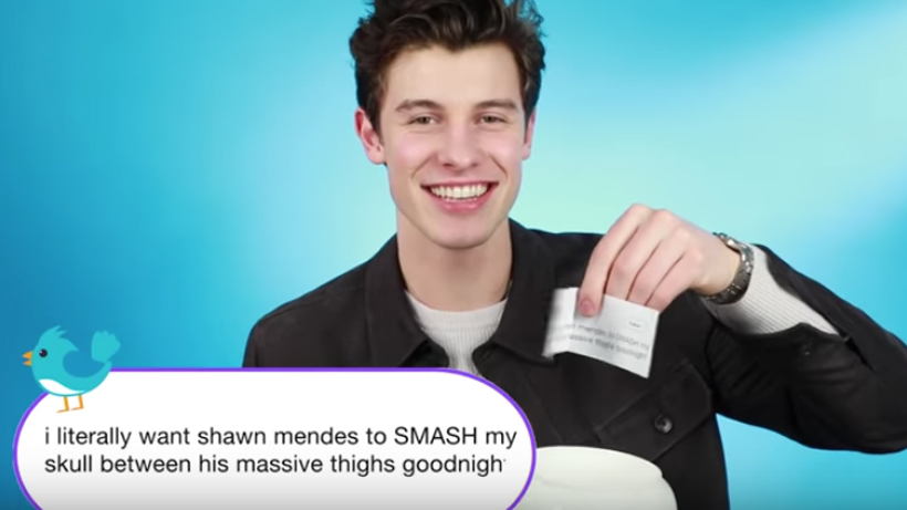 Shawn Mendes hilariously reads fans' thirsty tweets