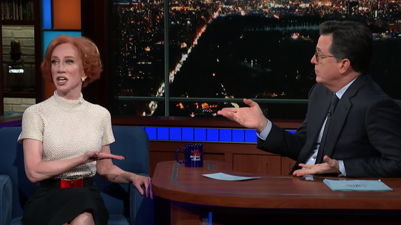 Kathy Griffin visited 'The Late Show' and shared a huge announcement