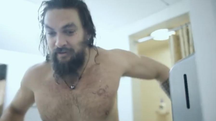 Watch: Jason Momoa wet in behind-the-scenes SNL video